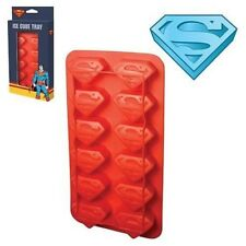 Superman S Chest Logo 12 Impressions Molded Rubber Ice Cube Tray NEW SEALED