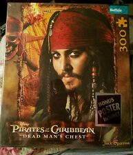 Pirates of the Caribbean Dead Mans Chest / Jack Sparrow Puzzle w/Poster 300 NIB