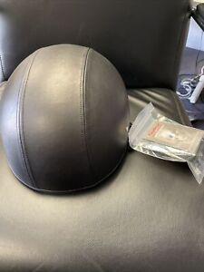 Daytona Helmets Skull Cap Naked Leather Covered Half Shell - Open Box - 3XL