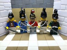 5x Napoleonic LEGO British, Germans & Russian with Helmets and Sabres