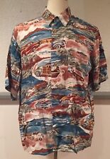 Vintage Board Lord Clothing Company 100% Rayon Button Shirt Camp Hawaiian Large