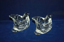 2 Vintage Avon Glass Bird / Swan Votive Candle Holders