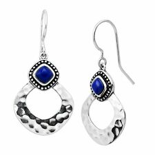 Silpada 'atacama' 1 Ct Natural Lapis Drop Earrings in Sterling Silver