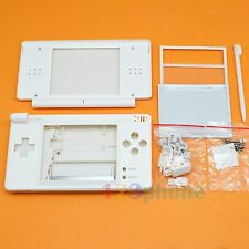 FULL HOUSING OUTER LENS + BUTTON SET + SCREW FOR NINTENDO NDSL NDS LITE #WHITE