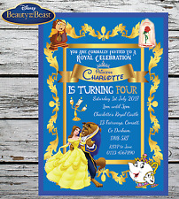 10 PERSONALISED DISNEY BEAUTY AND THE BEAST BIRTHDAY PARTY INVITATIONS INVITES