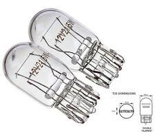 2x 7443 W21/5W T20 580 DRL a doppio filamento luce laterale turn segnale lampadine in vetro trasparente