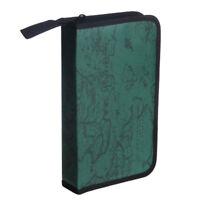 Green World Map Pattern CD VCD DVD Discs Storage Case PVC Bag N1S6