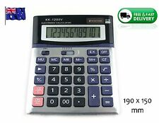 12 Digit Desk Calculator Electronic Large Format Display Office *Solar Powered*1