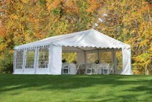 ShelterLogic Party Tent and Enclosure Kit, 20 ft. x 20 ft. x 10 ft. White