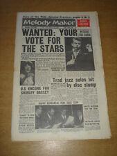 MELODY MAKER 1960 NOVEMBER 26 BOBBY DARIN DAVID JACOBS SHIRLEY BASSEY JATP +