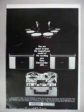 Sony Sterecorder Superscope Tape Deck Recorder PRINT AD - 1965 ~~ reel-to-reel