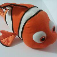 "Finding Nemo Plush 18"" Disney Store Clown Fish Orange Stuffed Animal"