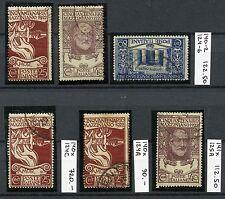ITALY 1922 Mazzini Used Set with RARE Varieties CEI CV$1045.00 SALE 15% CAT.!