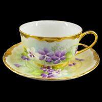 Vintage Hutschenreuther Selb Bavaria Germany Tea Cup & Saucer Set Artist Signed