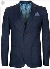 Ted Baker Altan Herringbone  Blazer Rt $548 Size 4