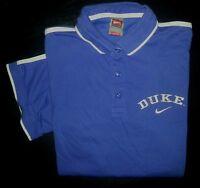 Nike Shirt Golf Polo FITDRY M Blue Solid White Trim White Duke Swoosh Logo s2218