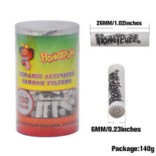 HONEYPUFF Active Charcoal Pipe Filter Tips Smoke Pipes Accessories 6mm 150 x/Box