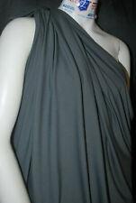 Bamboo Cotton Lycra Jersey Knit Fabric Eco-Friendly 4ways spandex -Charcoal Gray