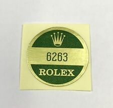 ROLEX 6263 FONDELLO Adesivo certificato vintage anni 1960 Daytona Paul Newman n.a.s