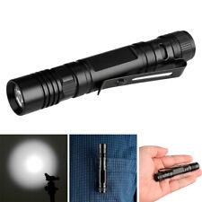 Pocket XPE LED AAA Flashlight Torch Mini Penlight Light Lamp Belt Clip Portable