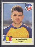 Panini - USA 94 World Cup - # 77 Gheorghe Mihali - Romania (Green Back)