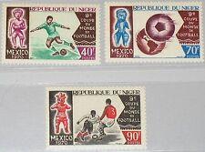 Níger 1970 242-44 228-30 World Soccer CS fútbol WM fútbol méxico mnh