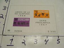 juegos de la XIX olimpiada 1968, serie preolimpica 1967 #1