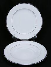 Nikko Band of Platinum 2 Dinner Plates 2738 MINT!