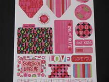 scrapbooking card making reminisce love stickers