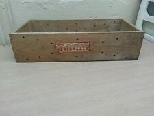 Vintage advertising wooden box canadian  national  perishable food