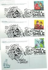 Ux628-632 Mail a Smile (Pixar Films) Fdc