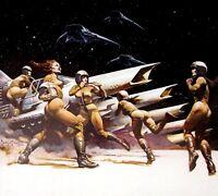 VTG Frank Frazetta Art Space 104-SCRAMBLE GGA Color Plate Space Spacecraft 1978