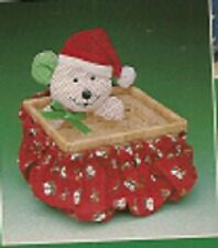 Vtg Avon Holiday Mouse Basket (Wicker) & Cover (Sealed)-New In Box-Free Shipping
