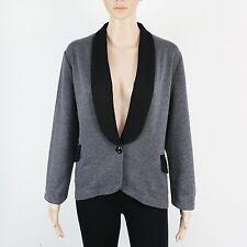 Next Womens Size 16 Grey Black Knit Button Up Cardigan