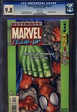 CGC 9.8 2001 Ultimate Marvel Team-Up 3 First Print Marvel Comics Hulk Spider-Man