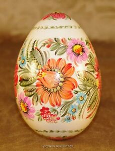 Ukrainian Petrykivka Pysanka Real Goose Egg