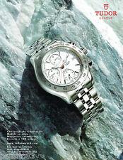 PUBLICITE ADVERTISING 115  2004  TUDOR  montre chronomatic étanche