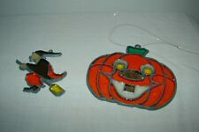 Vintage Makit & Bakit HTF Witch Pumpkin Halloween Suncatcher Ornaments Lot