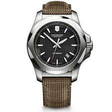 Victorinox Swiss Ejército I.N. Buey Mecánico Dial Negro Correa De Madera Reloj de hombre 241836