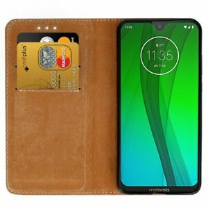 Black Wallet Real leather stand case with card slot for moto G5/G6/G7 UK Post