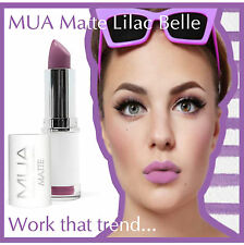 MUA Make up Academy Matt Lipstick Lilac Belle Purple Pink Undressed Matte Violet