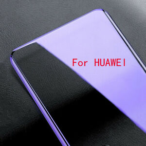 Anti Blue Curved Tempered Glass For Huawei Mate 40 30 P30 40 Pro Protective Film