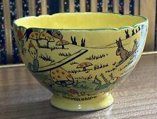 More details for rare royal cauldron lucky pixie 'jack o' lantern's' sugar bowl - devonshire ware