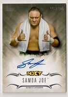 2016 TOPPS WWE UNDISPUTED SAMOA JOE AUTO #/299 NXT AUTOGRAPH