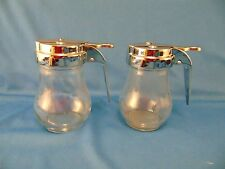 Vintage syrup jars 2 dripcut style Traex Company holds 4 oz. liquid kitchen art