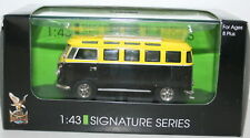 ROAD SIGNATURE 1/43 43209 1962 VW MICROBUS BLACK/YELLOW