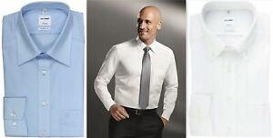 Mens Dress Shirt Olymp Tendenz Modern Fit Easycare Pure Cotton Long Sleeve