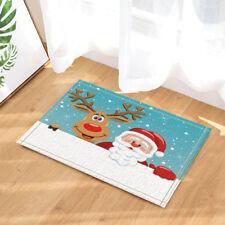 Door Mat Bathroom Rug Bedtoom Carpet Bath Mats Rug Santa Claus and reindeer