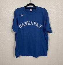 Vintage 90s JERZEES Fraternity Style Single Stitch Short Sleeve Shirt XXL VTG