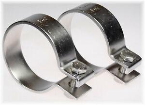 """2x BayWorld V2A Edelstahl 80,5mm DIN Schelle Breitbandklemme 3.15"""" Industrie"""